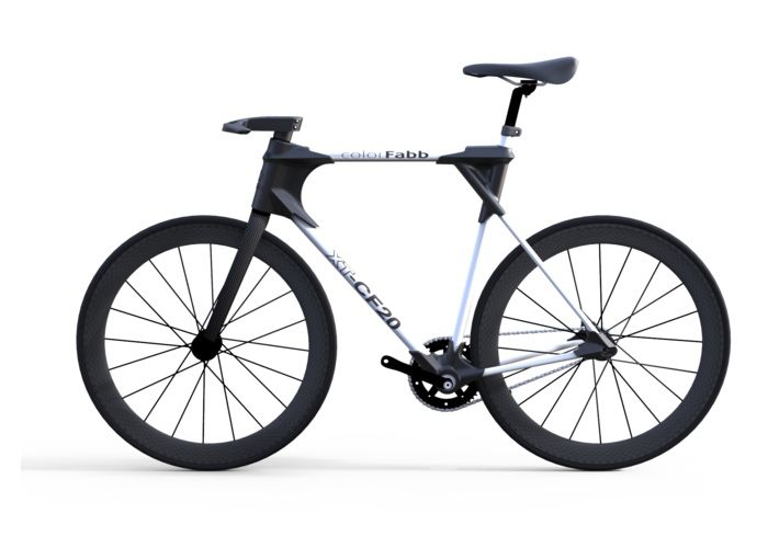 3D Printed Bike Created Using colorFabb Carbon Fiber Filament (video)