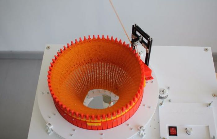 3D Printed Circular Knitic Knitting Machine Created By Makers