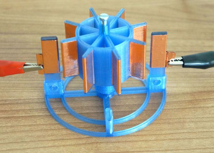 3D Printed DIY Electrostatic Motor (video)