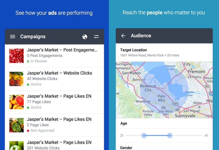 Facebook Advert Management Android App