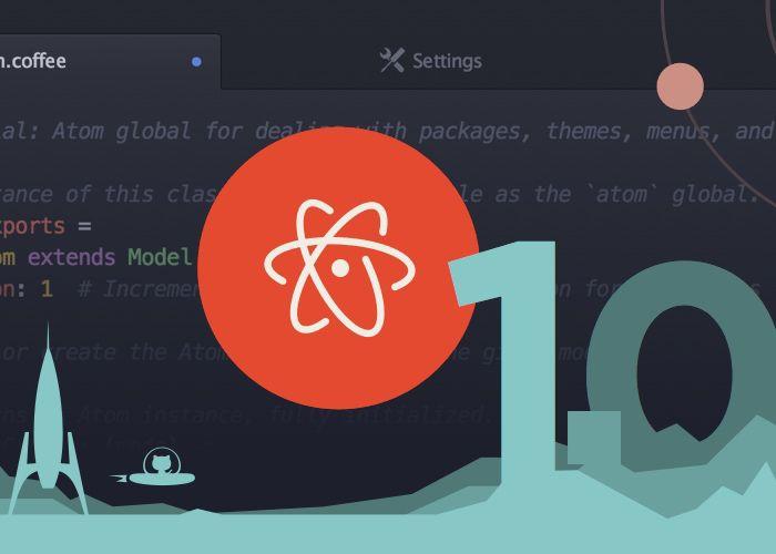 GitHub Atom Text Editor 1.0