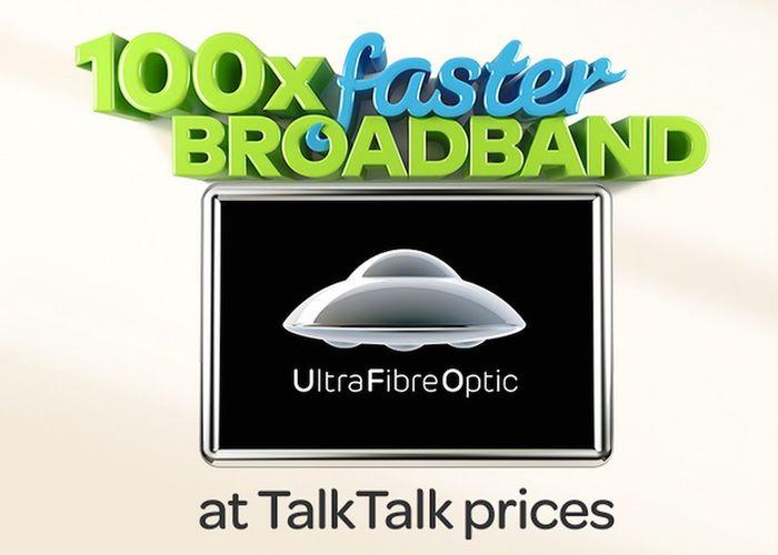Talktalk Mbps Ultra Fibre Optic Ufo Broadband