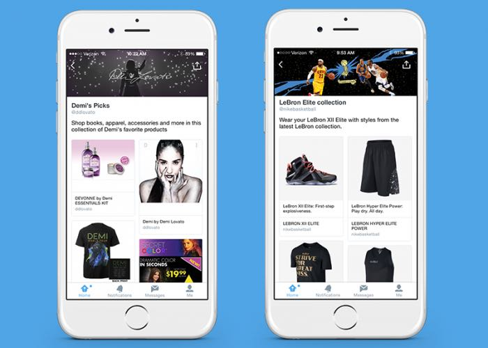 Twitter Adds Product Pages And Collections