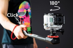 Spivo Action Sports Camera Pole Swivels 180 Degrees (video)