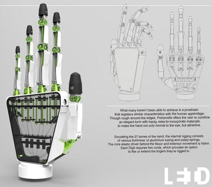3D Printed Prehensile Prosthetic Hand
