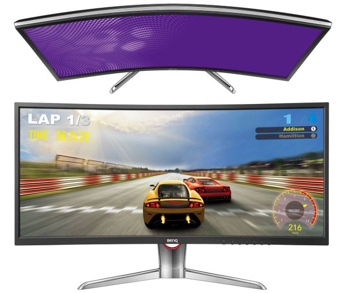 Curved Widescreen Monitor