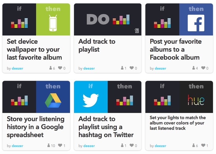 Deezer Now Supports IFTTT Actions