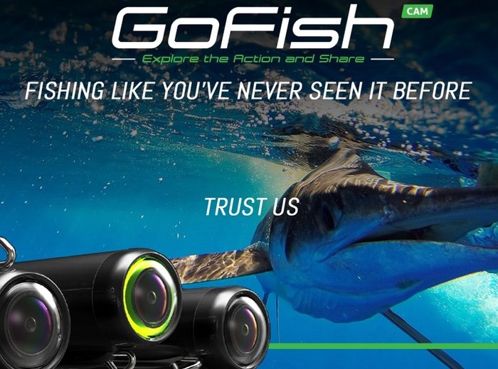 Gofish cam fishing line camera records the action in full for Underwater camera fishing
