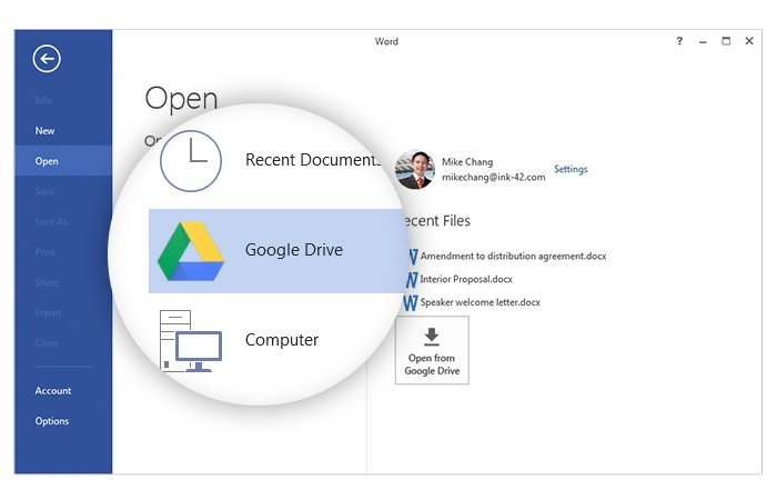 Google Drive Office Plugin