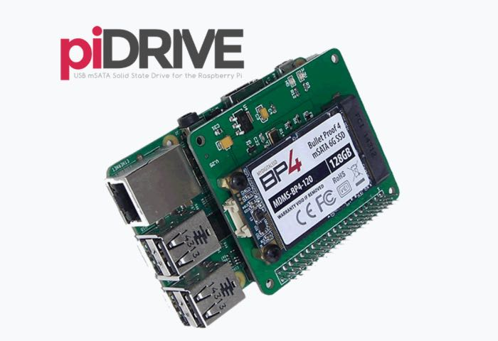 PiDrive A Low Power Raspberry Pi mSATA Solid State Disk (SSD)
