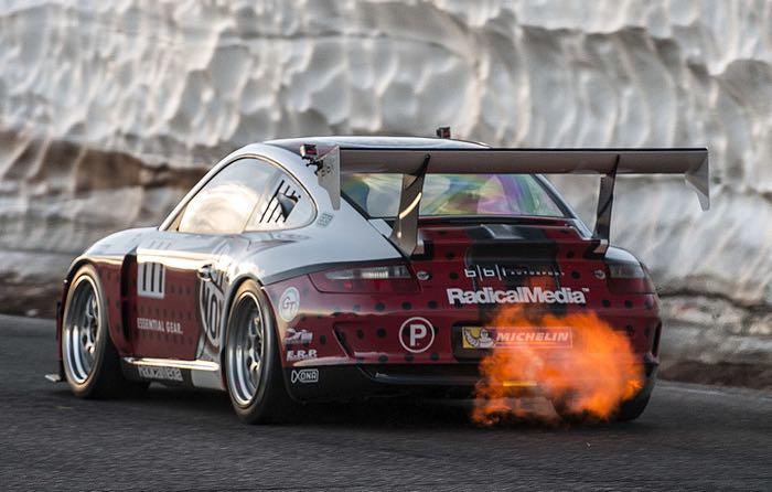 Jeff Zwart在派克峰驾驶保时捷GT3 Cup Turbo