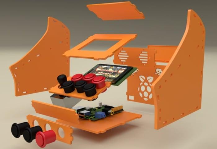 Raspberry Pi Nano Arcade Cabinet