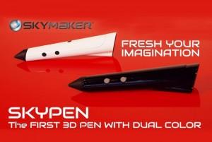 SKYPEN Dual Color 3D Printing Pen (video)