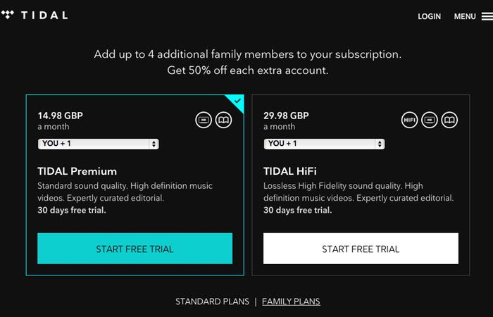 Tidal Streaming Music Service Introduce Family Pricing ...