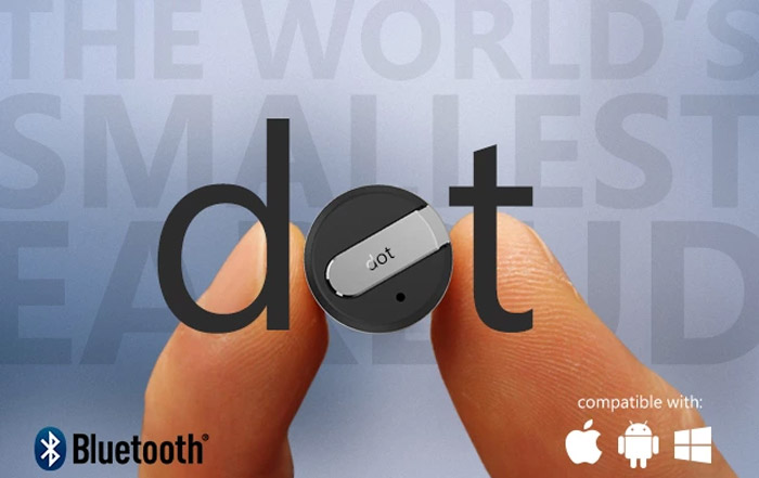 Dot Bluetooth Earbud packs 9 Hours of Talk in a Tiny Package