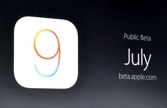 Apple iOS 9公开测试版发布