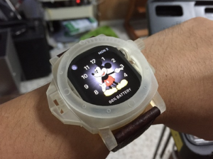 3D Printed Panerai Case for Apple Watch (video)