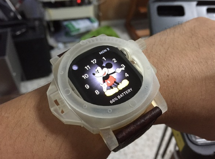 super popular f387d 61288 3D Printed Panerai Case for Apple Watch (video)