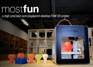 Mostfun Desktop FDM 3D Printer Powered By Intel Edison PC Unveiled (video)