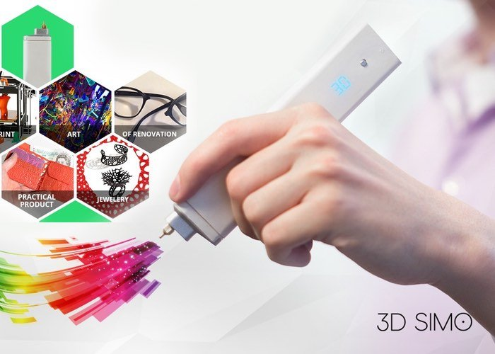 3Dsimo Mini Handheld 3D Drawing And Multifunctional Tool (video)