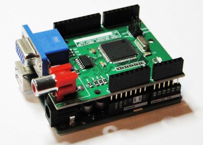 VGADuino, Arduino VGA Graphic Shield (video)