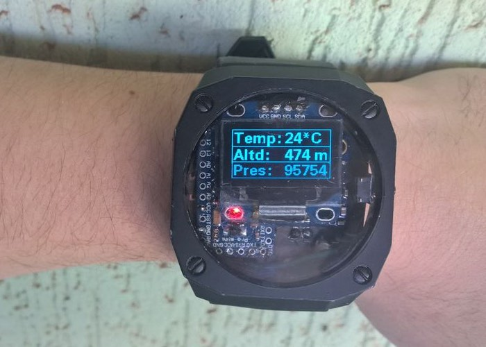 DIY Arduino Watch Equipped with Pedometer, Compass, Altitude