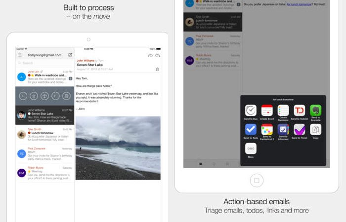 Dispatch Email Organisation App Arrives On iPad