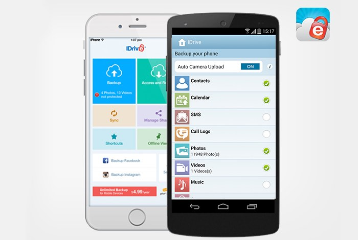 IDrive Unlimited Mobile Backup: Lifetime Subscription