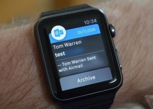 Microsoft Outlook Apple Watch App Launches
