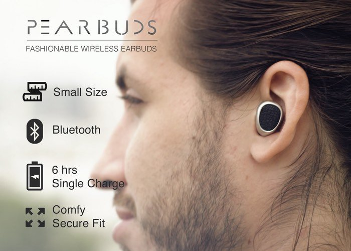 Pearbuds Stereo Cordless Earbuds (video)