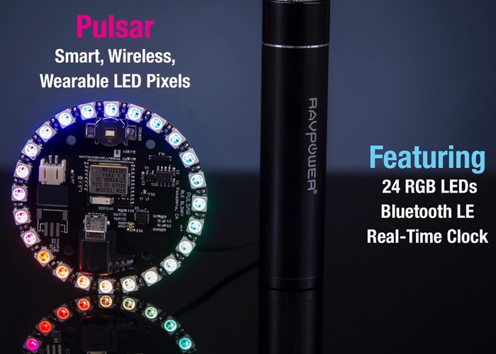 Smartphone Controlled Wireless Wearable LED Pixels