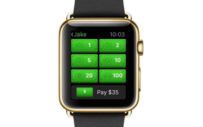 Square Cash Apple Watch App