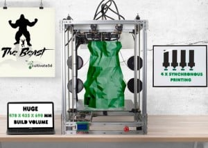 The Beast 3D Printer Uses 4 Extruders To Create Huge Prints (video)