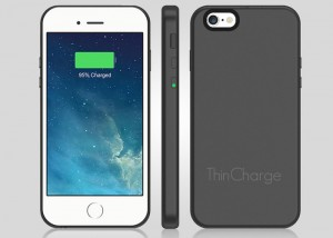 ThinCharge Super Thin iPhone Battery Case Doubles Your Battery Life (video)