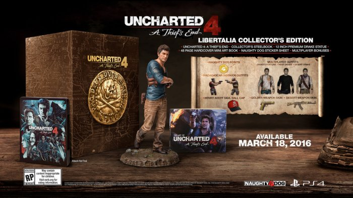 Uncharted 4: A Thief's End Coming To PS4 on March 18th