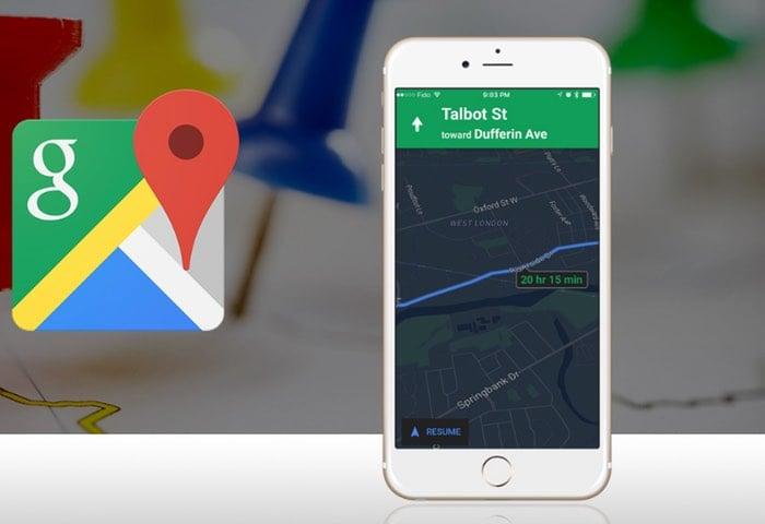 iOS Google Maps Night Mode