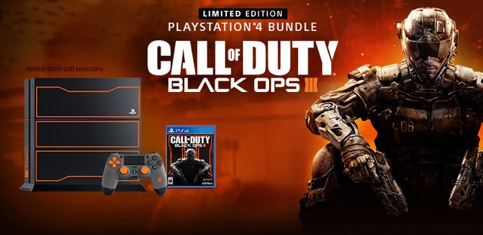 Black Ops III Limited Edition PlayStation 4 Bundle Launches 6th November