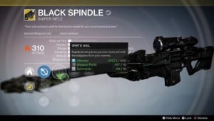 New Black Spindle Destiny Secret Exotic Weapon Uncovered In Daily Mission (video)