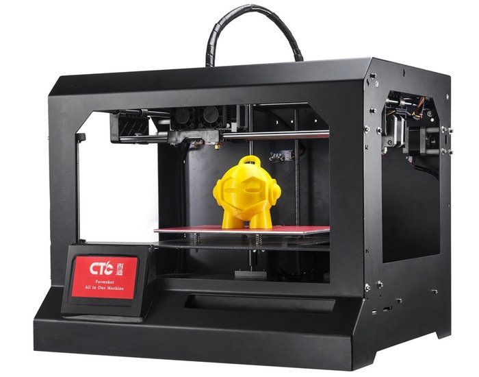 CTC All-In-One Desktop Systems Combines 3D Printer, CNC, Laser And PCB Manufacture