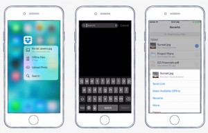 Dropbox iOS 9