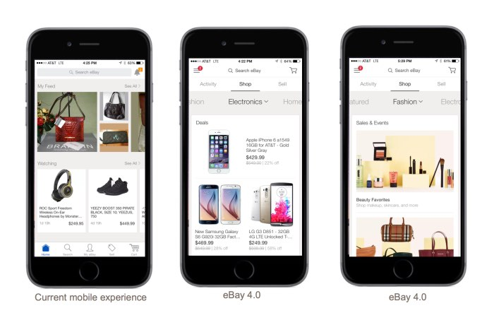 Ebay Updates Its Mobile Apps To Ebay 4 0 Fashion Motor And Valet