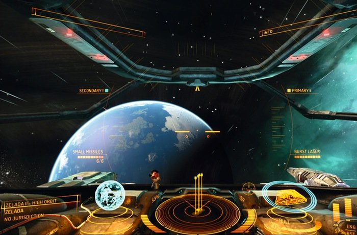 Elite Dangerous Space Simulation ReceivingHTC Vive VR Support