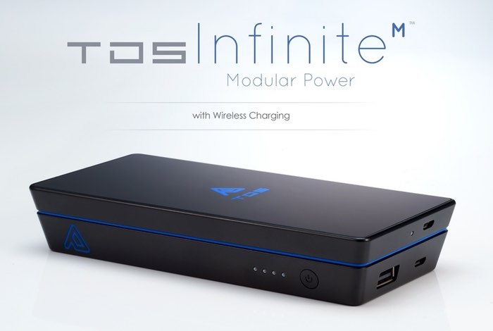 Infinite M, Modular Wireless Charger And Battery Pack (video)