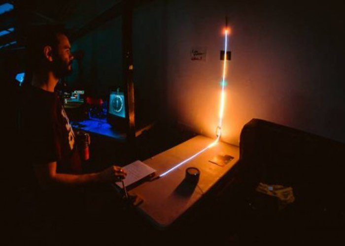 Awesome line wobbler arduino game created using doorstop