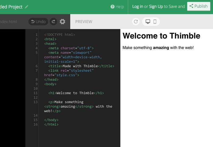 Mozilla Thimble Code Editor Updated With New Features