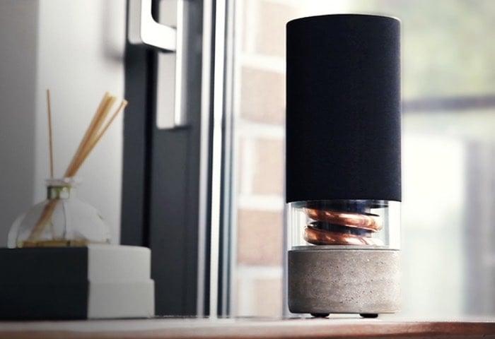pavilion d spiral acoustic wireless speaker system unveiled video. Black Bedroom Furniture Sets. Home Design Ideas
