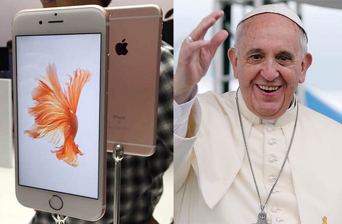 Pope iphone