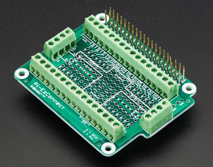 Raspberry Pi Pi-EzConnect Terminal Block Breakout HAT