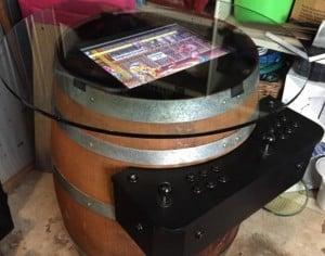 Raspberry Pi Powered Arcade Game Barrel Table (video)