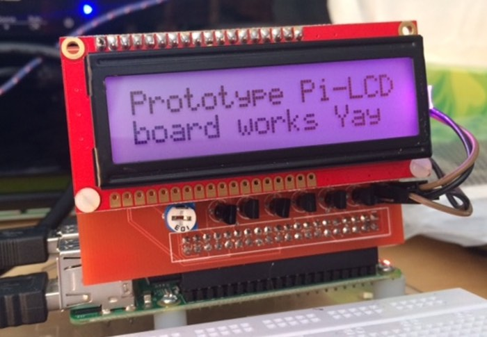 Raspberry Pi Simple LCD Interface Board